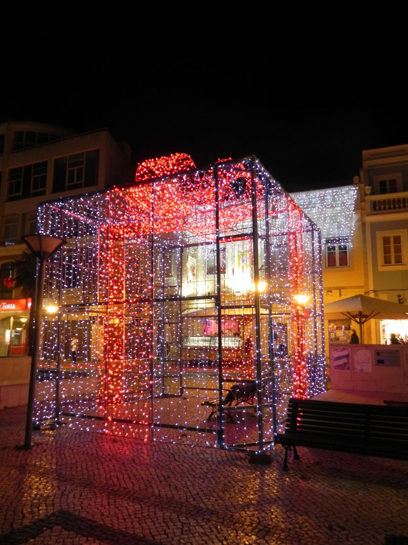 Weihnachtsbeleuchtung in Lagos an der Algarve